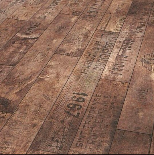 Wooden Floor Made From Old Fruit Casjng Originally From