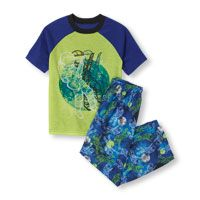 Short Sleeve Astronaut Rockstar Top & Printed Pants PJ Set