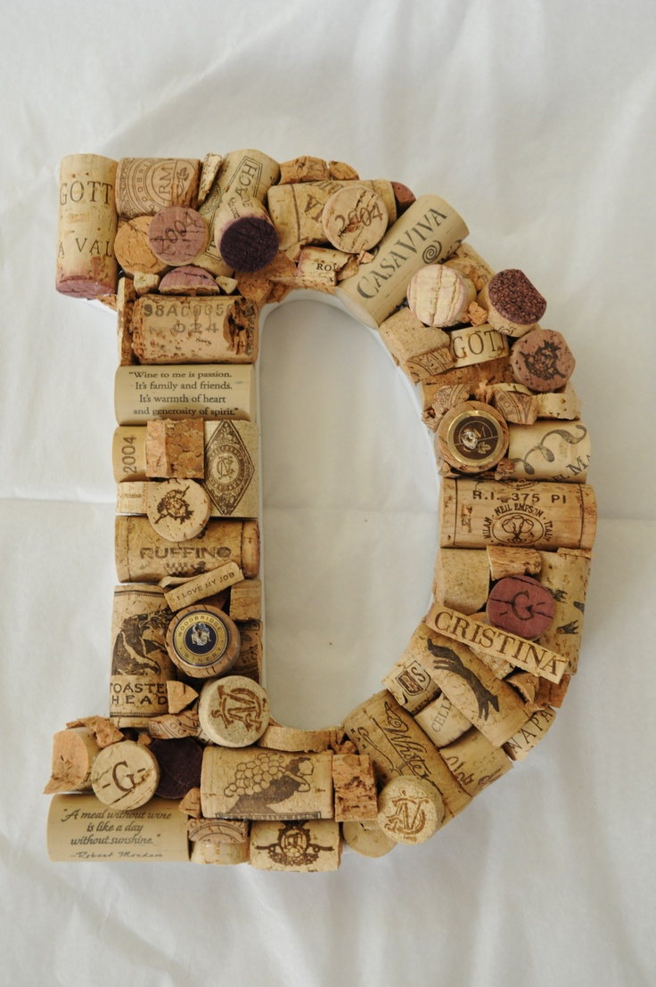 I have always collected corks. Typically, they just get stored in a vase,  but what a great display :)