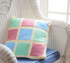 Knitted Cushion Cover. #Knitting #Craft #SouthAfrica