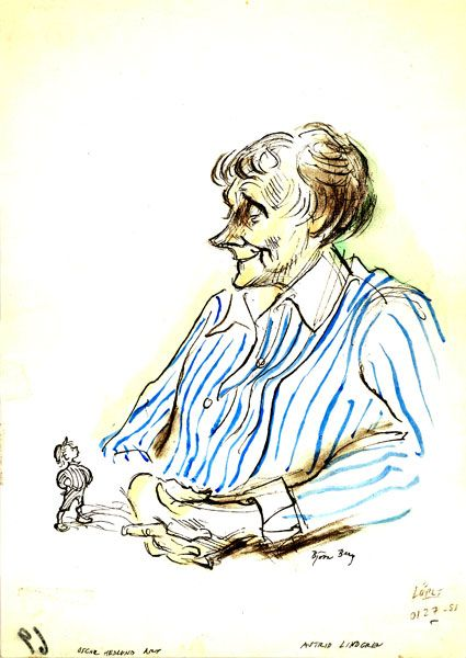 Astrid and Emil as drawn by Björn Berg