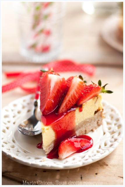 Cheesecake aux fraises sucre de bouleau et farine d orge mond recette saine et ig tr s bas - Recette saine et equilibree ...