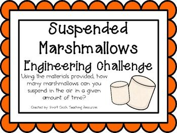 Engineering+Challenge: Using+the+materials+provided,+how+many+marshmallows+can+you+suspend+in+the+air+in+a+given+amount+of+time? Materials+Needed:+(per+team+of+four+students) Five+foot+length+of+string One+bag+of+large+marshmallows Ten+rubber+bands Five+straws Ten+toothpicks This+packet+contains+all+the+information+you+need+to+make+this+a+great+engineering+activity+in+your+classroom!