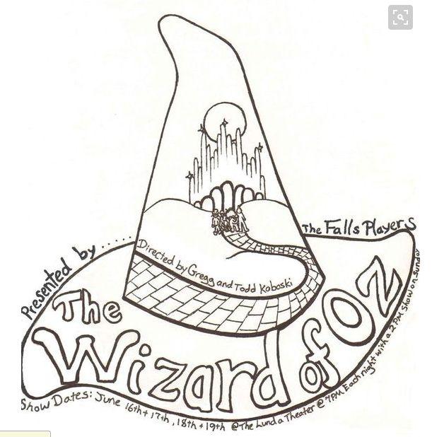 Čarodejník z krajiny Oz na vymaľovanie