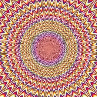 Psychedelic. Image appears to move as you stare at it.
