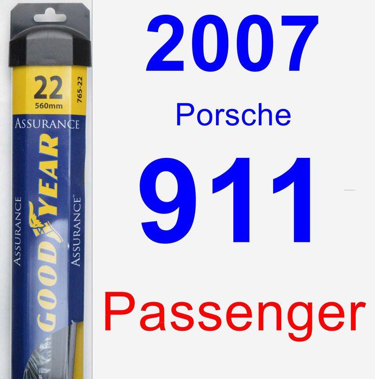 Passenger Wiper Blade for 2007 Porsche 911 - Assurance