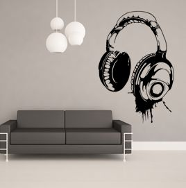 Headphones Wall Sticker Wallart Music Wallsticker Cool Http