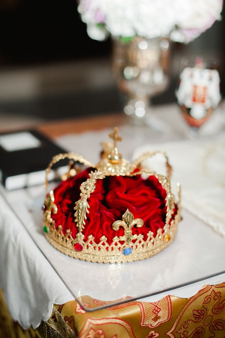 The ceremonial crown for a traditional Serbian wedding.