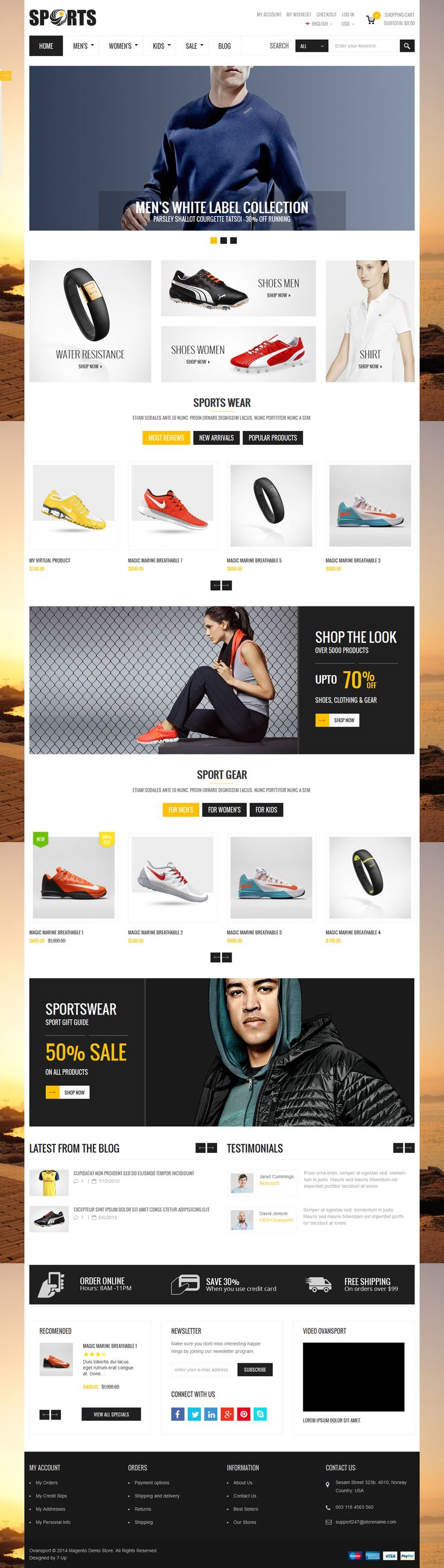 Ovansport – A fresh and clean design Published by Maan Ali