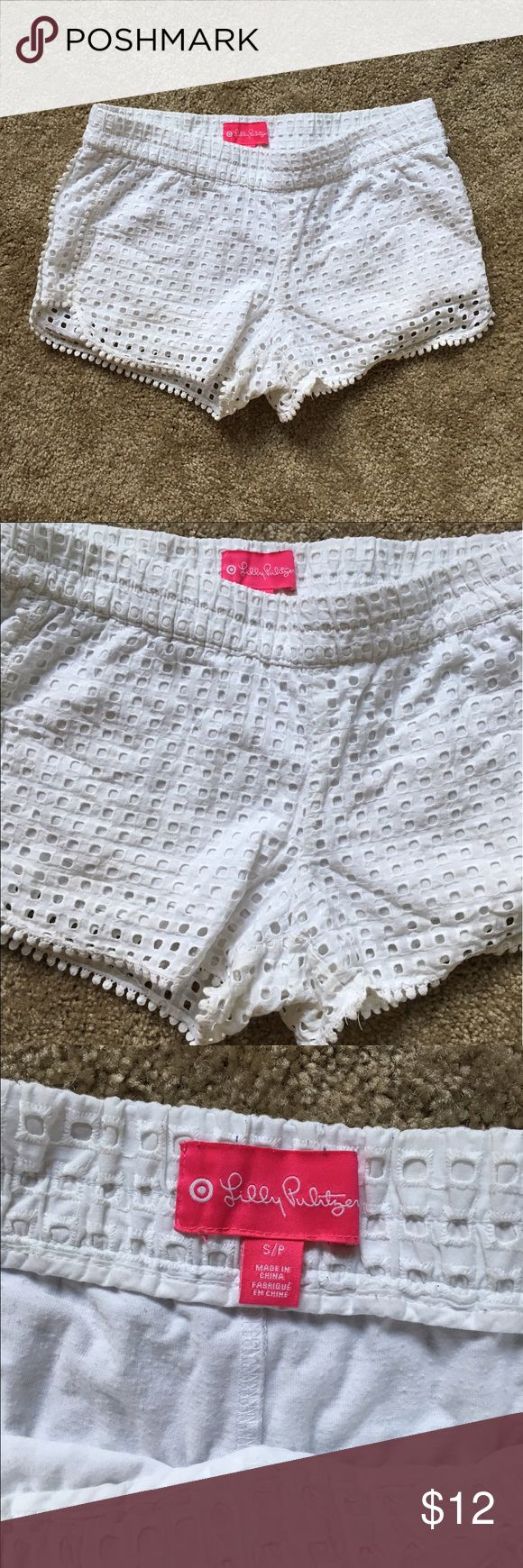 Lilly Pulitzer for Target White Eyelet shorts Lilly Pulitzer for Target white eyelet shorts. Size small. Good condition. Non smoking home. Lilly Pulitzer for Target Shorts