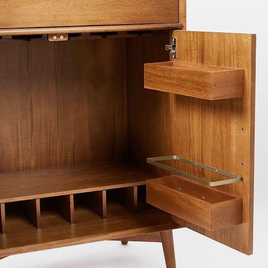 Unique Mid Century Bar Cabinet Large