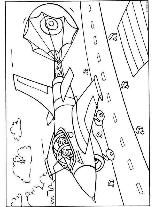 kleurplaat straaljager met remparachute kleurplaten nl