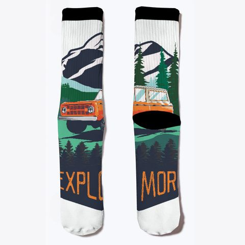 Bronco Truck Explore More Socks