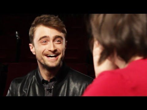 Fans thought they were doing an interview about Daniel Radcliffe's new movie. They had no idea he was there in person to surprise them... | Daniel Radcliffe Surprised Fans At A Movie Theater And It Was Glorious