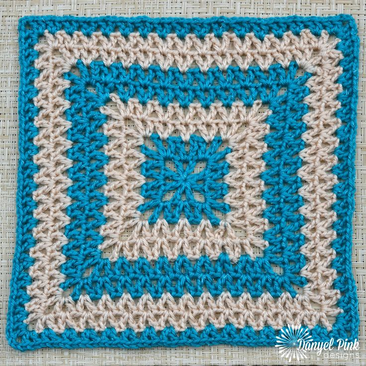 This lovely, openwork afghan square is super quick to stitch, and is a great stash-buster project. Change colors every 2 rows to c...
