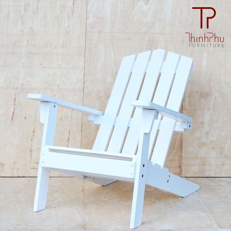 White Adirondack Chair 03