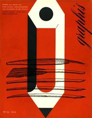 1946 Graphis Magazine cover #blackandred