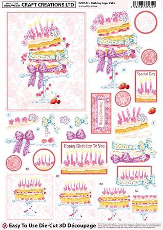 Birthday Layer Cake Découpage – DCD572