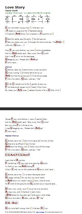Love Story (Taylor Swift) - http://myuke.ca