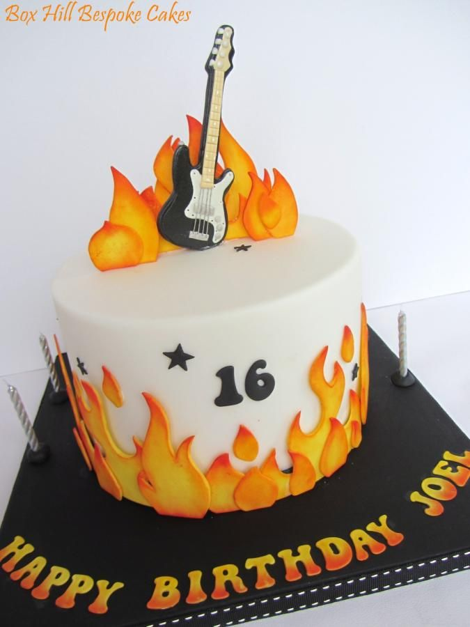 Guitar Cake by Noreen@ Box Hill Bespoke Cakes