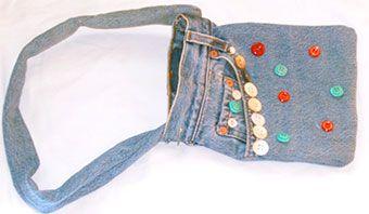 Een tas maken van een oude spijkerbroek