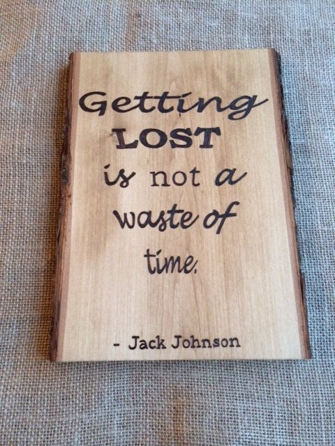 Rustic Basswood Jack Johnson Getting Lost Is by TheStrangeSnail, $22.00