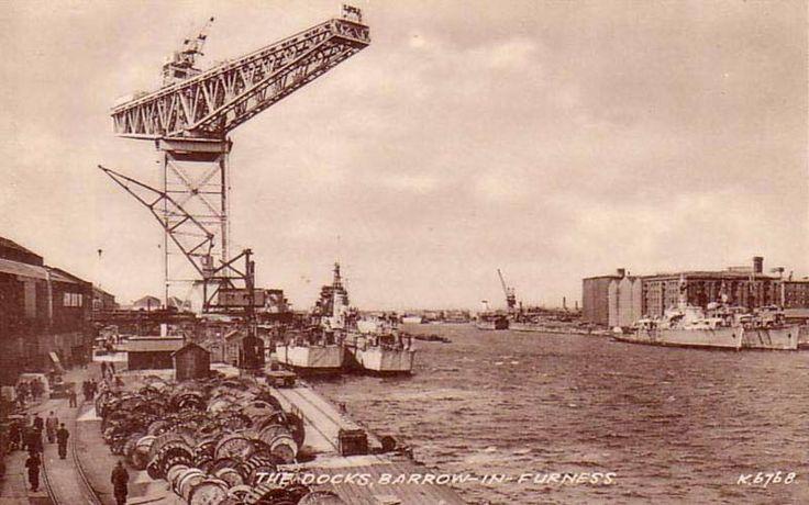 The Docks, Barrow-In-Furness. #postcards