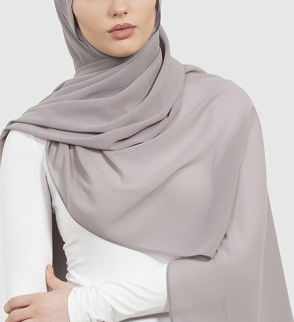 Taupe Soft Crepe Hijab - £11.90 : Inayah, Islamic Clothing & Fashion, Abayas, Jilbabs, Hijabs, Jalabiyas & Hijab Pins
