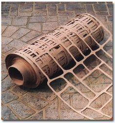 Concrete stencils...Make your patio look like brick or cobblestone!