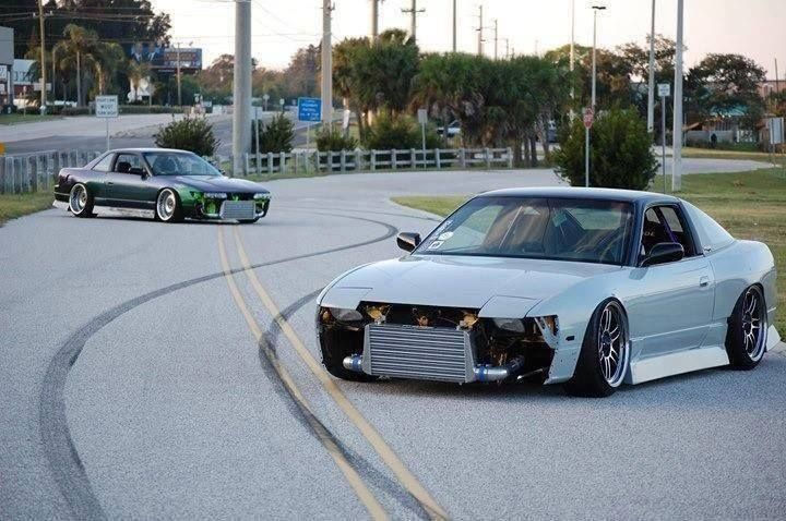 Marking their territory.. drift style.