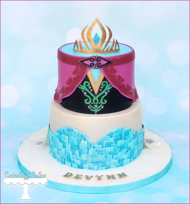 Elsa & Anna FROZEN themed cake