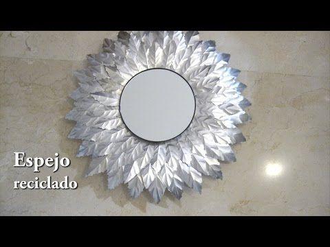 # DIY - Espejo reciclado con latas de refresco - YouTube