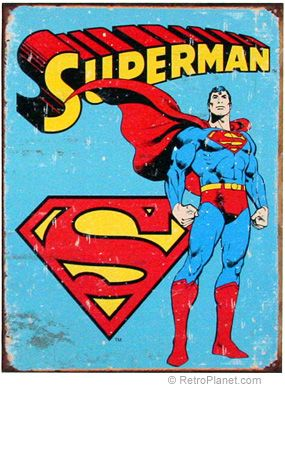 Superman Vintage Comics Tin Sign