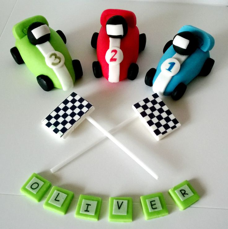 RACING CAR cake toppers edible personalised birthday decoration in Crafts, Cake Decorating   eBay
