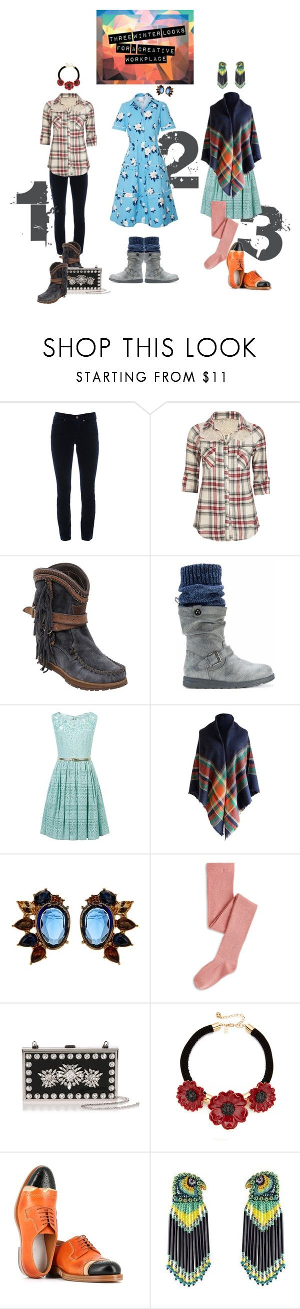 """""""monday, tuesday, wednesday"""" by meadowbat ❤ liked on Polyvore featuring Cambio, Full Tilt, El Vaquero, M:UK, Monsoon, Carolee, Manolo Blahnik, Kate Spade, Maison Margiela and Forest of Chintz"""