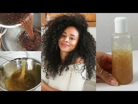 DIY 100% Natural Leave-In • Flaxseed Gel for healthy Afrolocken - YouTube