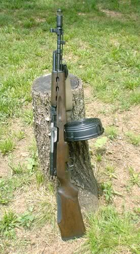 100 Rounds For those wondering whether AK drums will fit into the SKS-M, yes they can, but you have to modify the stock by opening up the side to allow the drum to lock in. The SKS-M in case you missed the previous post is an SKS that can use standard AK magazines. The one in the photo has the 100 round Chinese drum. Note that a muzzle brake has been added as well.