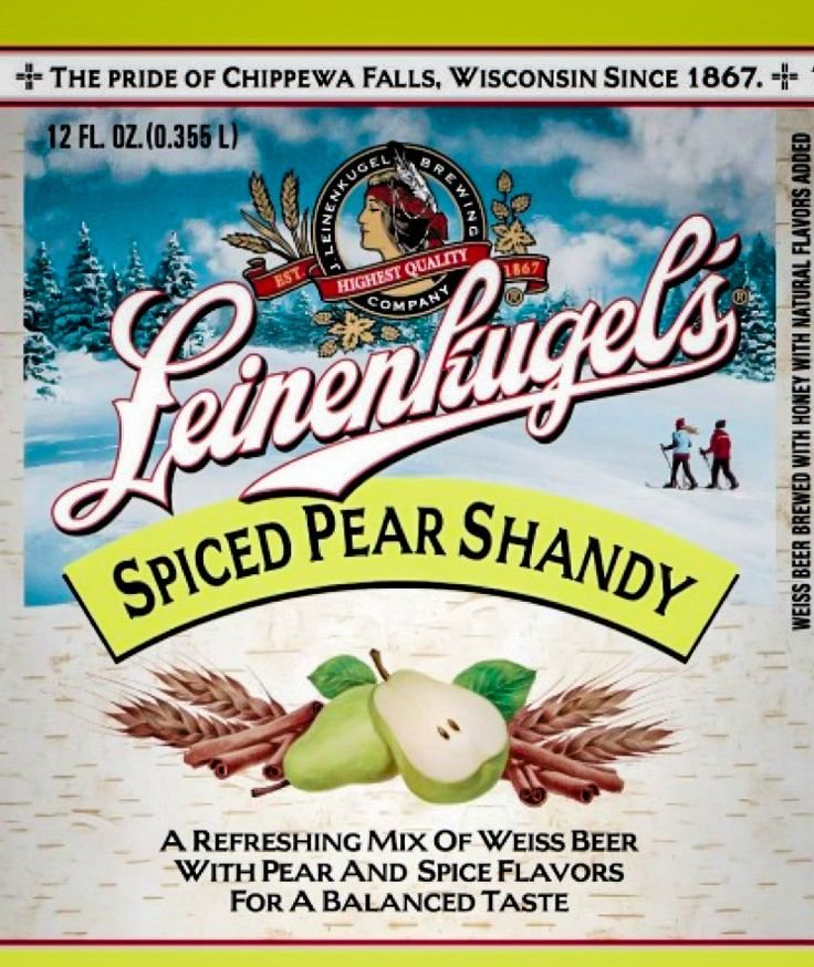 Leinenkugel's Spiced Pear Shandy Weiss Beer Chippewa Falls WI