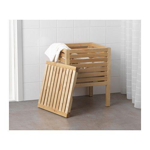 MOLGER Storage stool, birch birch -