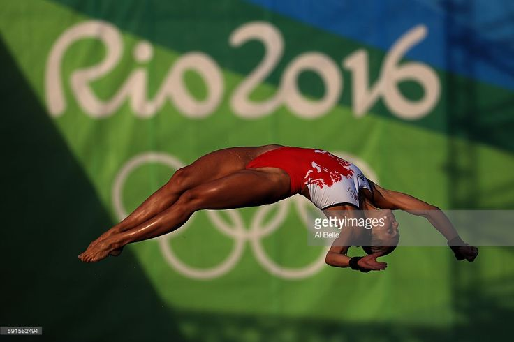 Tonia Couch of Great Britain competes during the Women's 10m Platform Diving…