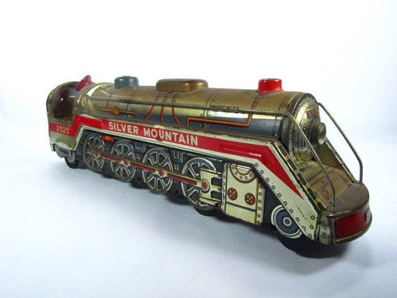 toy train vintage train silver mountain collectible metal toy train 1960s train vintage toy. Black Bedroom Furniture Sets. Home Design Ideas