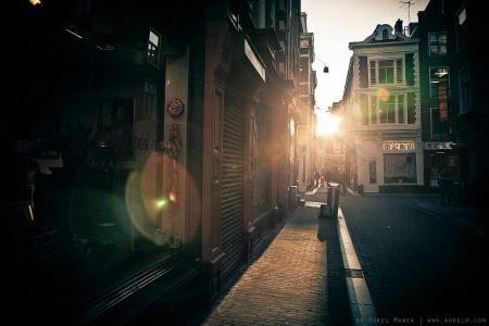 amsterdam, chinatown sunset