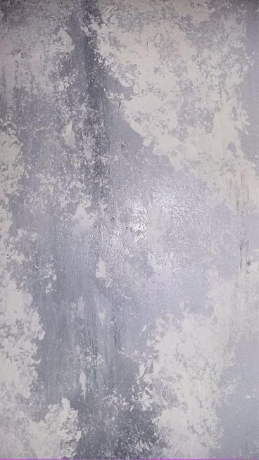 Grey Blue Plaster Over Metallic Paint Effect Decoracion En