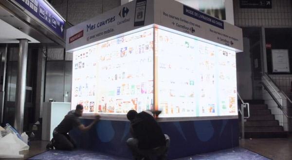 Carrefour-magasin-virtuel-gare de Lyon part Dieu