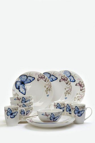 Image for 16Piece New Bone China Butterfly Dinner Set