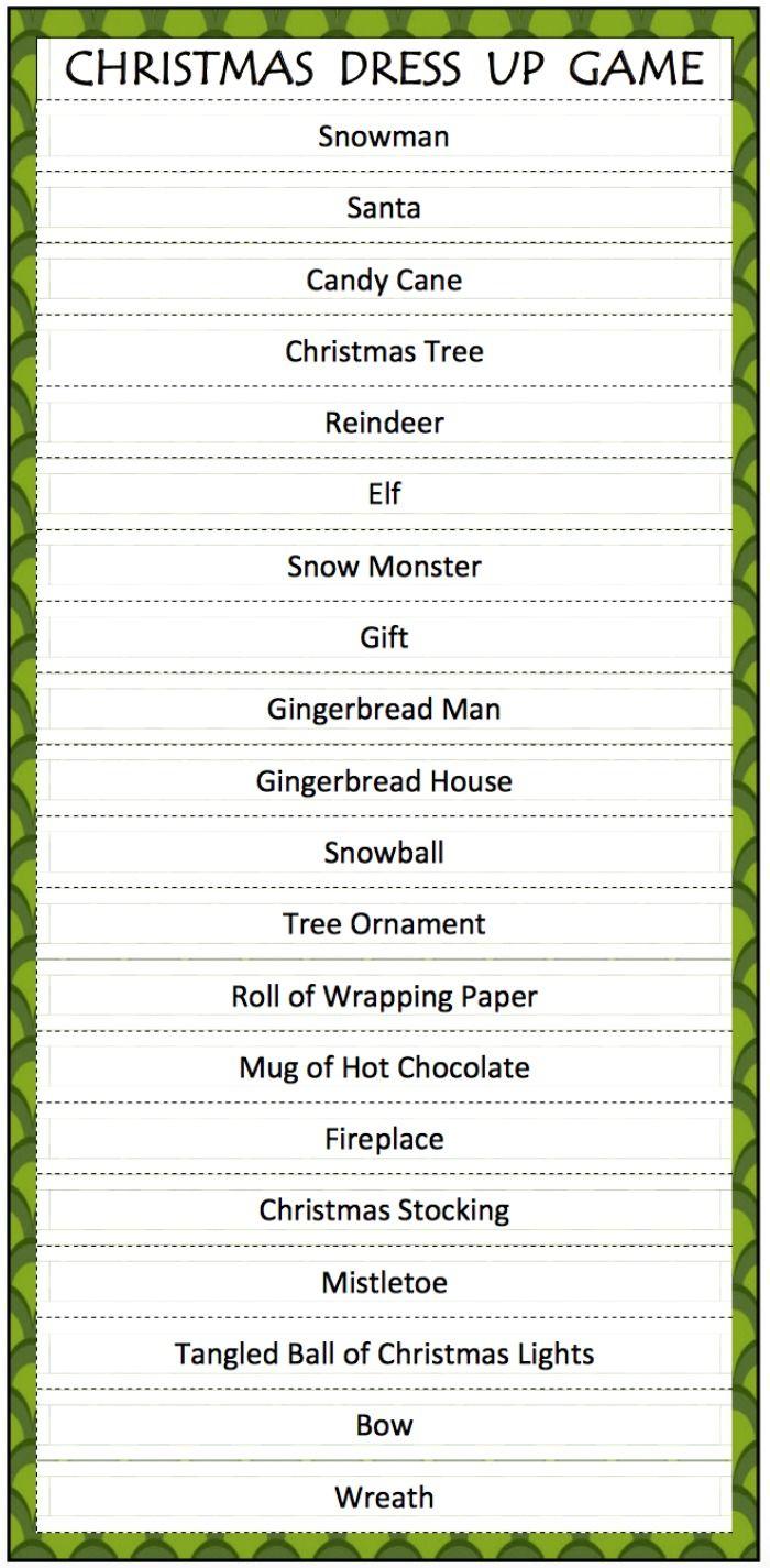 Dress up xmas games - Christmas Dress Up Game Free Printable