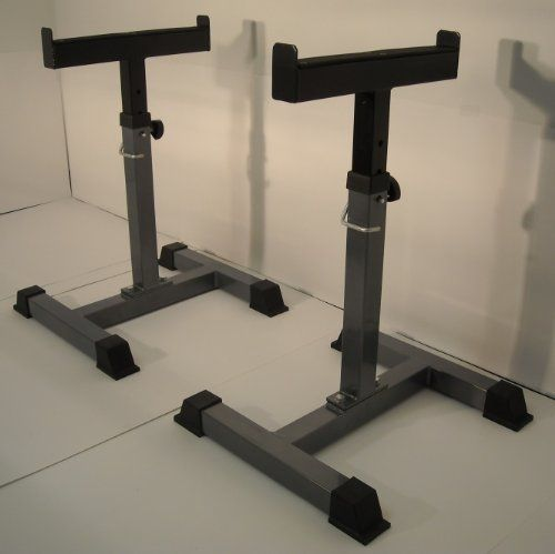 17 best ideas about weight rack on pinterest exercise for Homemade safety squat bar