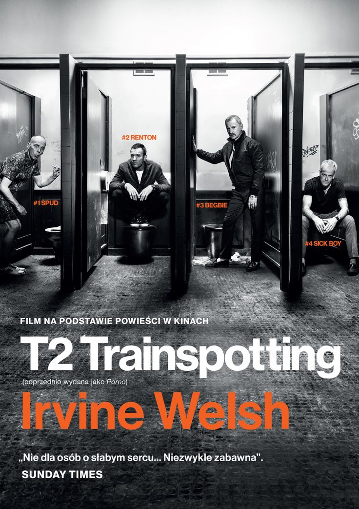 """Premiera książki związana z premierą filmu T2 Trainspotting w reż. Danny'ego Boyle'a (3 lutego)  Mocna odpowiedź na kultowy TRAINSPOTTING – powieść, na której podstawie powstał jeden z najgłośniejszych filmów lat 90.   NA MOTYWACH TEJ POWIEŚCI DANNY BOYLE NAKRĘCIŁ KONTYNUACJĘ KULTOWEGO Trainspotting!  Simon """"Sick Boy"""" wraca na stare śmiecie do Edynburga. Nie sprawdził się w Londynie jako kombinator, alfons, mąż, ojciec i biznesmen. Teraz ma nowy szalony projekt: chce wyreżyserować film…"""