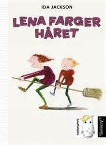 Om boka: Lena leker heks, og nå vil hun farge håret lilla  Lena og Anne Marthe er bestevenner. Lena bestemmer over Anne Marthe. Nå skal de farge håret selv, som mammaen til Anne Marthe. Lena farger håret er morsom! Det er lett å kjenne seg igjen.  Bokstavene har stor størrelse. Språket er lett. Tegningene forteller fint sammen med teksten.