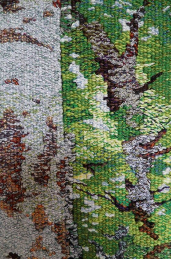 Trees Woven Textile Tapestry